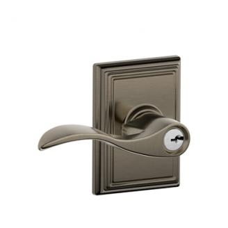 Schlage F51ACC620ADD Accent Keyed Entry Lever Knob Set with Addison Rose