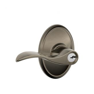 Schlage F51ACC620WKF Accent Keyed Entry Door Lever Set with Wakefield Rose