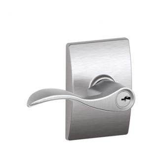 Schlage F51ACC626CEN Accent Keyed Entry Door Lever Set with Century Rose