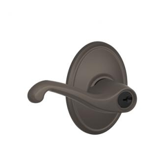 Schlage F51FLA613WKF Flair Keyed Entry Door Lever Set with Wakefield Rose