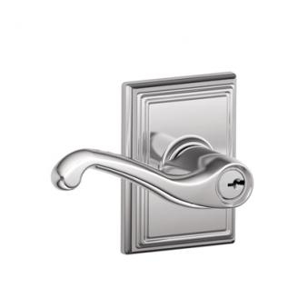 Schlage F51FLA625ADD Flair Keyed Entry Lever Knob Set with Addison Rose