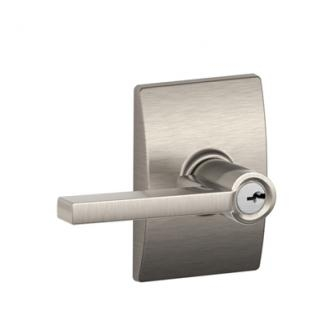 Schlage F51LAT619CEN Latitude Keyed Entry Door Lever Set with Century Rose
