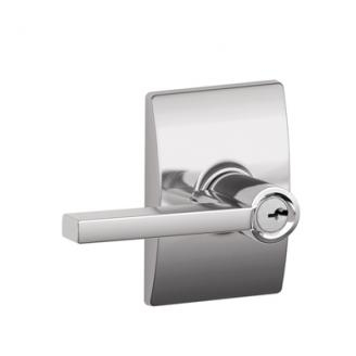 Schlage F51LAT625CEN Latitude Keyed Entry Door Lever Set with Century Rose