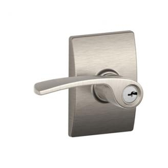Schlage F51MER619CEN Merano Keyed Entry Door Lever Set with Century Rose