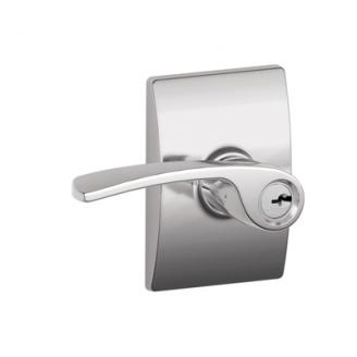 Schlage F51MER625CEN Merano Keyed Entry Door Lever Set with Century Rose