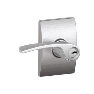 Schlage F51MER626CEN Merano Keyed Entry Door Lever Set with Century Rose