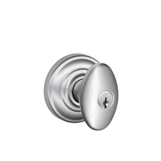Schlage Siena Knob with Andover Decorative Rose Satin Chrome (626)