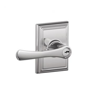 Schlage F51VLA625ADD Avila Keyed Entry Lever Set with Addison Rose