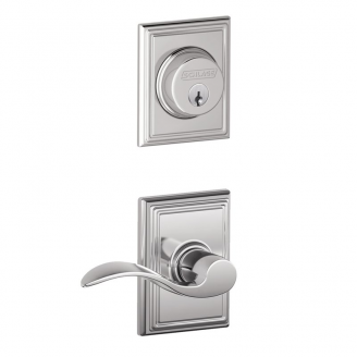 Shclage F57/F59 ACCADD Addison Single Cylinder Deadbolt with Accent Lever