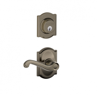 Schlage F57 F59 FLA/CAM Camelot Single Cylinder Deadbolt with Flair Lever