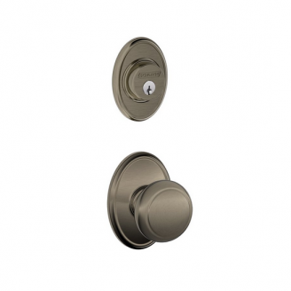 Schlage F57 F59 AND/WKF Wakfield Single Cylinder Deadbolt with Andover Knob