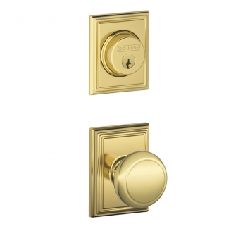Schlage F57 F59 ACC/ADD Single Cylinder Deadbolt with Andover Passage Knob