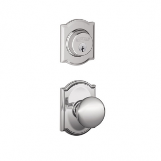 Schlage F57 F59 PLY/CAM Camelot Single Cylinder Deadbolt with Plymouth Knob
