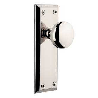 Grandeur Fifth Avenue Backplate with Fifth Avenue knob Polished Nickel