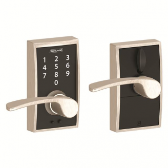 Schlage FE695CEN619MER Century Touch™ Entry Lever Set with Merano Lever