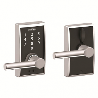 Schlage FE695CEN625BRW Century Touch™ Entry Lever Set with Broadway Lever