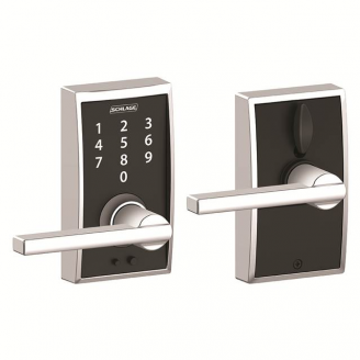 Schlage Fe695 Cen Lat Century Touch Entry Lever Set With