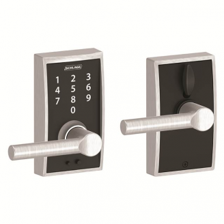 Schlage FE695CEN626BRW Century Touch™ Entry Lever Set with Broadway Lever