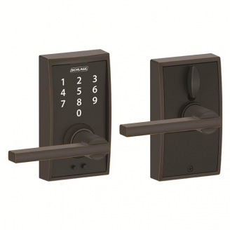 Schlage FE695CEN716LAT Century Touch™ Entry Lever Set with Latitude Lever