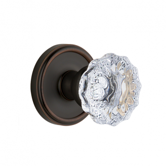 Grandeur Fontainebleau Knob with Georgetown Rose Timeless Bronze (TB)