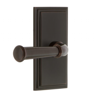 Grandeur Georgetown Lever Set with Carre Short Plate Timeless Bronze