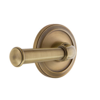 Grandeur Georgetown Lever Set with Circulaire Rose Vintage Brass