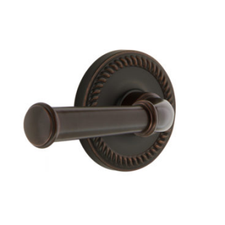 Grandeur Georgetown Lever Set with Newport Rose Timeless Bronze