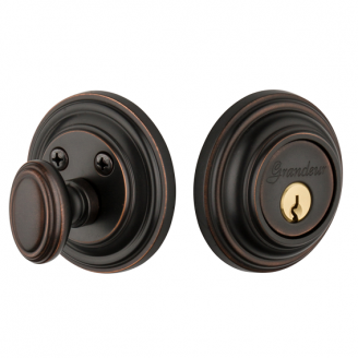 Grandeur Georgetown Single Cylinder Deadbolt Timeless Bronze (TB)