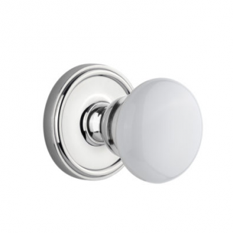 Grandeur Hyde Park Knob with Georgetown Rose Bright Chrome