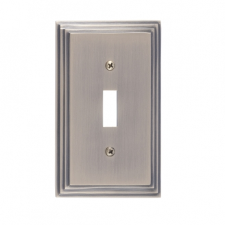 Brass Accents M02-S2500-609 Classic Steps Single Switch Plate