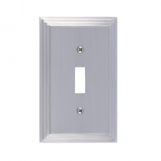 Brass Accents M02-S2500-619 Classic Steps Single Switch Plate
