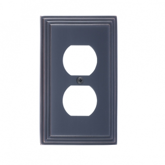 Brass Accents M02-S2510-613VB Classic Steps Single Outlet Plate