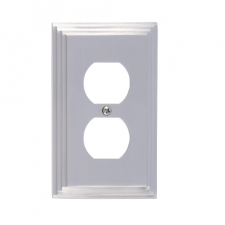 Brass Accents M02-S2510-619 Classic Steps Single Outlet Plate
