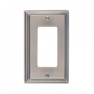 Brass Accents M02-S2520-609 Classic Steps Single GFCI Switch Plate
