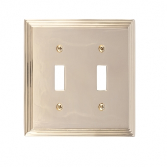 Brass Accents M02-S2530-605 Classic Steps Double Switch Plate