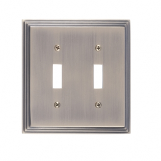 Brass Accents M02-S2530-609 Classic Steps Double Switch Plate