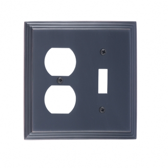 Brass Accents M02-S2540-613 Classic Steps -Single Switch and Single Outlet Plate