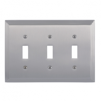 Brass Accents M02-S2550-619 Classic Steps Triple Switch Plate