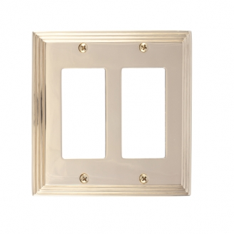 Brass Accents M02-S2570-605 Classic Steps Double GFCI Switch Plate