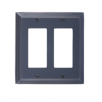 Brass Accents M02-S2570-613VB Classic Steps Double GFCI Switch Plate