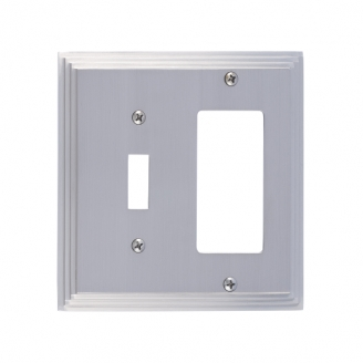 Brass Accents M02-S2571-619 Classic Steps Double-Single Switch and Single GFCI