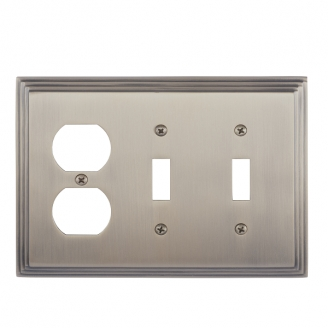 Brass Accents M02-S2580-609 Classic Steps Triple-Double Switch and Single Outlet