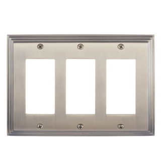 Brass Accents M02-S2590-609 Classic Steps Triple GFCI Switch Plate