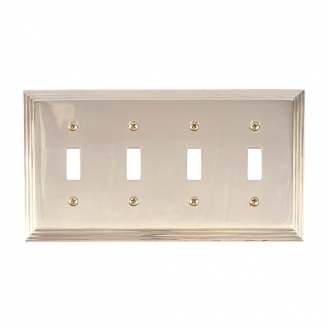 Brass Accents M02-S2591-605 Classic Steps Quad Switch Plate