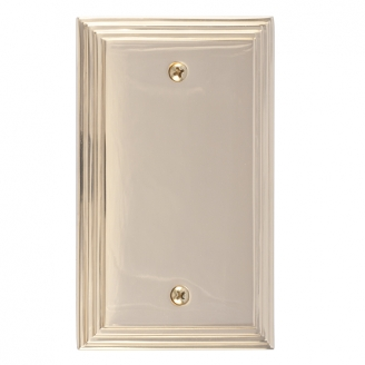 Brass Accents M02-S25X0-605 Classic Steps Single Blank Plate
