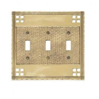 Brass Accents M05-S5650 Arts and Crafts Triple Switch Plate
