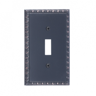 Brass Accents M05-S7500-613VB Egg & Dart Single Switch Plate