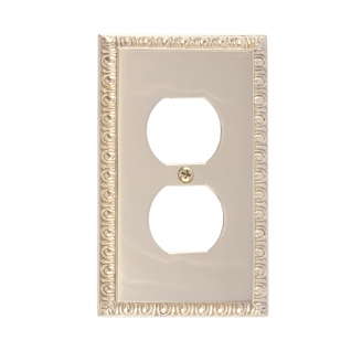 Brass Accents M05-S7510-605 Egg & Dart Single Outlet Plate