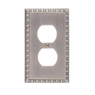 Brass Accents M05-S7510-609 Egg & Dart Single Outlet Plate