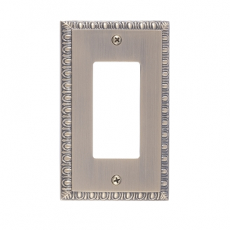 Brass Accents M05-S7520-609 Egg & Dart Single GFCI Switch Plate